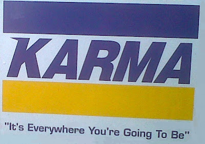 karma bumper sticker bhakti omwoods fairy wisdom quarterly american buddhist journal